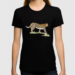 Flower Pattern Cheetah T-shirt