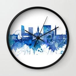 Lille France Skyline Blue Wall Clock