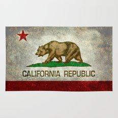 Californian state flag - The California Republic Bear flag in Retro style Rug
