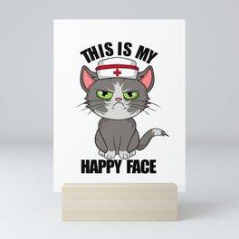 this is my happy face vintage nurse 2020 Mini Art Print
