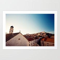 Sunrise in Dubrovnik Art Print