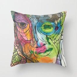 A Face Throw Pillow