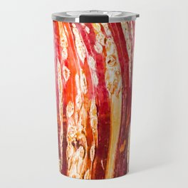 Red, yellow, brown bark of a tree - autumn colours of nature Travel Mug