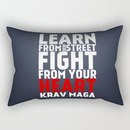 Learn from the Street Krav Maga Rectangular Pillow
