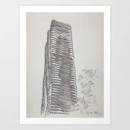Chicago - Aqua Tower Art Print