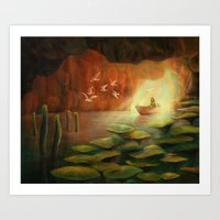 Into the Cave Art Print