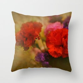 Carnation Romance Throw Pillow
