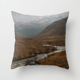 Glen Etive, Scotland Throw Pillow