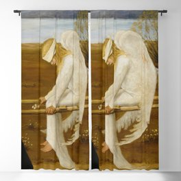 1903 Classical Masterpiece 'The Wounded Angel' by Hugo Simberg Blackout Curtain