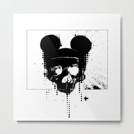 Horror Mickey Metal Print