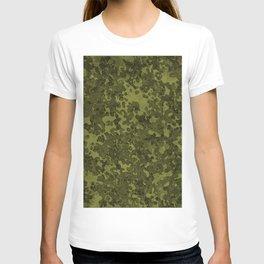 Olive Green Hybrid Camo Pattern T-shirt