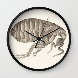 Vintage Flea Engraving Wall Clock