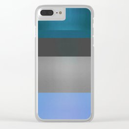 Luminous Ocean Abstract Color Study 2 Clear iPhone Case