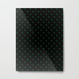 Cadmium Green on Black Snowflakes Metal Print