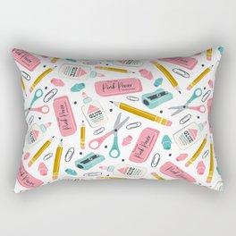 Back To School Essentials Rectangular Pillow