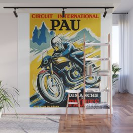 Grand Prix de Pau, Race poster, vintage motorcycle poster, retro poster, Wall Mural