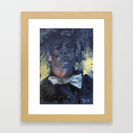 The Night Shift Bow-Tie Framed Art Print