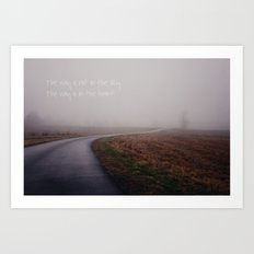 the way Art Print