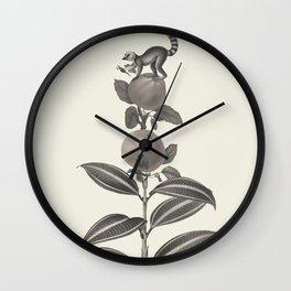 Panel Lemur Wall Clock