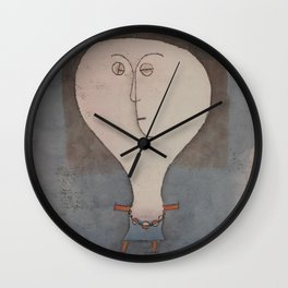Paul Klee - Fright of a Girl Wall Clock