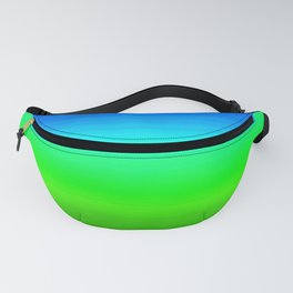 Blue Sky Green Grass Deconstructed (blue to green ombre gradient) Fanny Pack