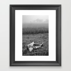Abandoned Marsh Boat Framed Art Print