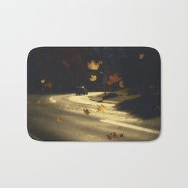 Autumn shower! Take me with you away from a dreadful winter! Bath Mat