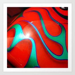 Flaming Red Hot Rod Kunstdrucke