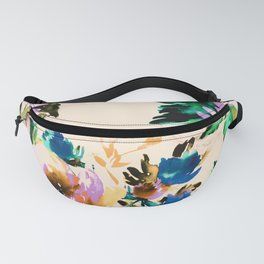 Watercolor blooming paint Fanny Pack