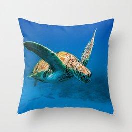 Bajan Turtle 2 Throw Pillow