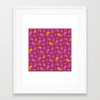 paisley Framed Art Prints featuring Paisley  by Poli Cunha