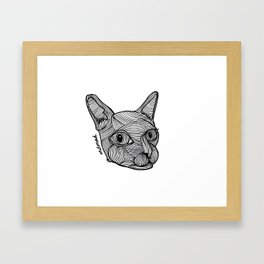 Cat Head Framed Art Print