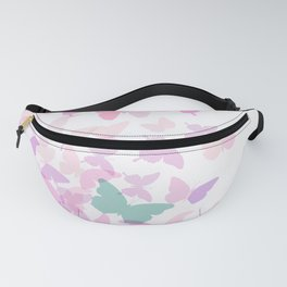 summer pink butterfly Fanny Pack