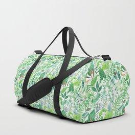 greenery watercolor pattern Duffle Bag