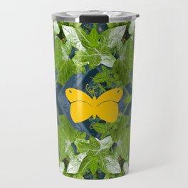 Three yellow butterflies Travel Mug