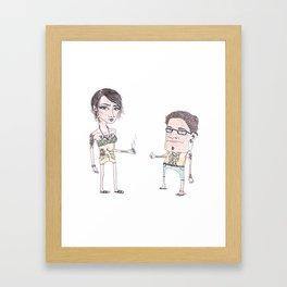 Summer People Framed Art Print