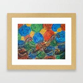 Waves in my Dreams Framed Art Print