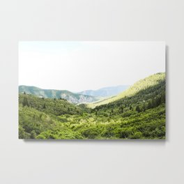 Utah Mountain Valley Metal Print