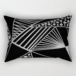 Modern geometrical black faux silver blush chic pattern Rectangular Pillow