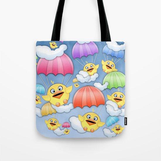 In Coming Birdies.  Tote Bag