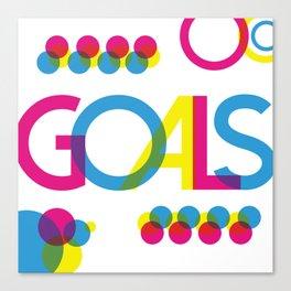 Goals - Bradbury Thompson Canvas Print