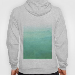 Modern hand painted green teal aqua watercolor ombre motif Hoody
