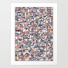 HUMAN BEINGS Art Print
