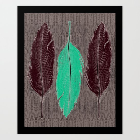 Feathered Art Print
