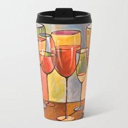 Whites and Reds ... abstract wine glass art, kitchen bar prints Travel Mug