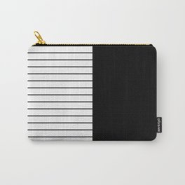 Striped Solid Black Carry-All Pouch