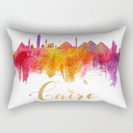 Cairo Skyline Egypt Watercolor cityscape Rectangular Pillow