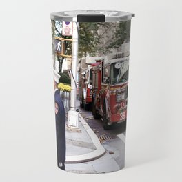 The Fire Dept of New York at 30 Rock Travel Mug