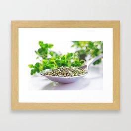 Kitchen Herbs Thym Framed Art Print