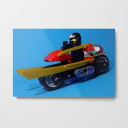 Cole with motorcar Metal Print